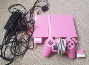 Pink ps2 and controller