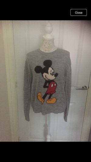 New Mickey Mouse jumper from Disney at H&M size medium new