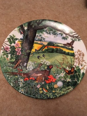 Meadows & wheatfields collectable plate