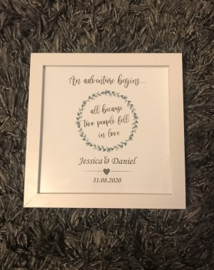 Personalised printed engagement photo frame