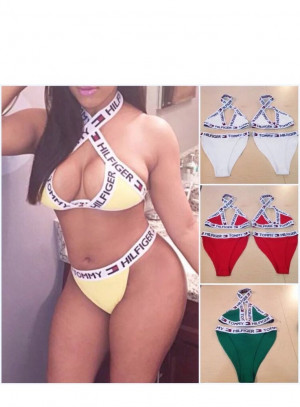 TOMMY HILFIGER REWORKED BIKINI DIFFERENT COLOURS AND SIZES AVAILABLE
