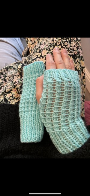 Brand new mint green finger less gloves