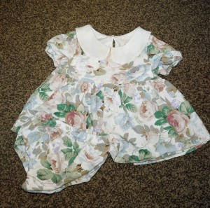 boutique vintage rose dress & bloomers set from Dollywears 3-6 months