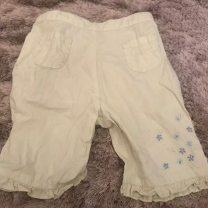 Baby girls Lemon mini mode trousers with flowers 3-6 months