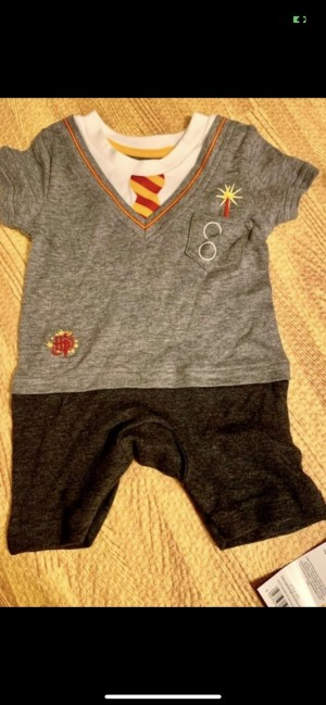 Harry Potter outfit wizard in training 9-12m jumpsuit romper