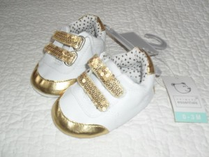 Gold defying shoes