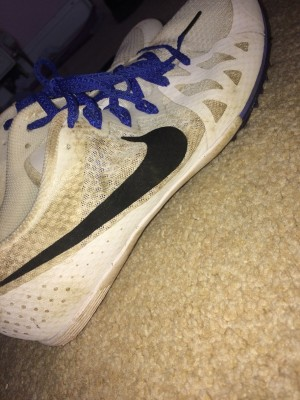 Nike spikes for running size 8