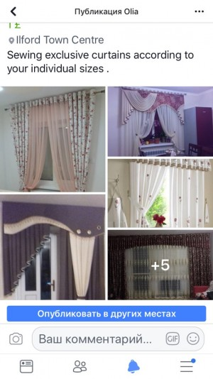 Sewing exclusive curtains according to your individual sizes .