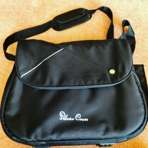 Silver Cross Black Luxury Baby Nappy Changing Bag With Change Mat & Bo