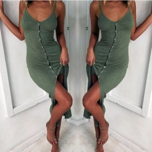 Holiday v neck bodycon split dress (avaliable in sizes S M L)