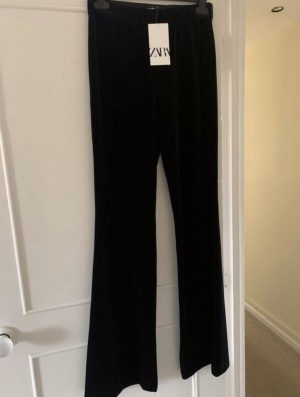 Zara velvet flare trousers brand new with tags