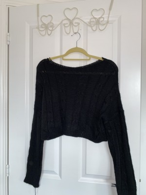 brand new black cable knit jumper
