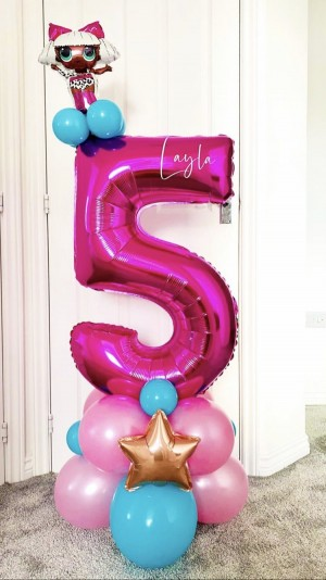 Number ballon stand