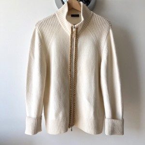 RARE Fred Perry cream colour wool cardigan  6 8 10 12