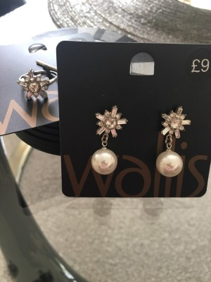 Brand new matching earrings and ring set