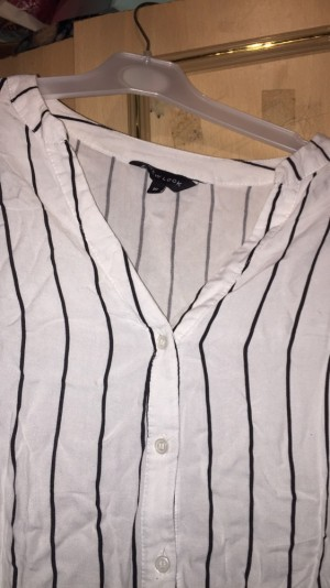 Black and white stripe blouse for sale (can also post )