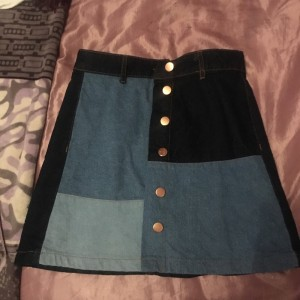 beautiful blue a-line skirt