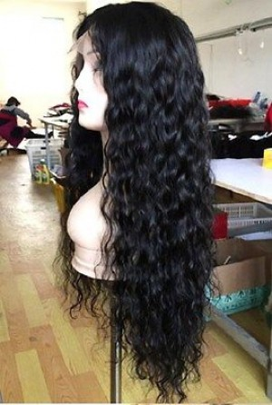 "24"" Peruvian Wavy Lace Closure Wig"