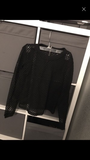 See through black top size 6