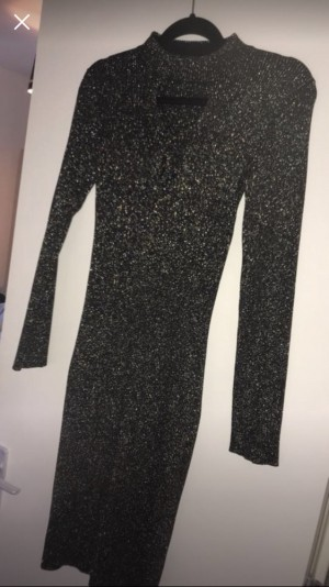 Black and gold dress from river island size 12