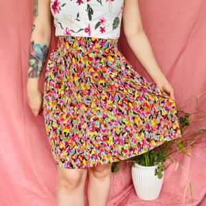 Vintage abstract skirt