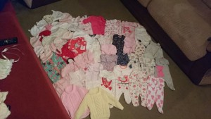 bundle of girls newborn and 0-3 clothes