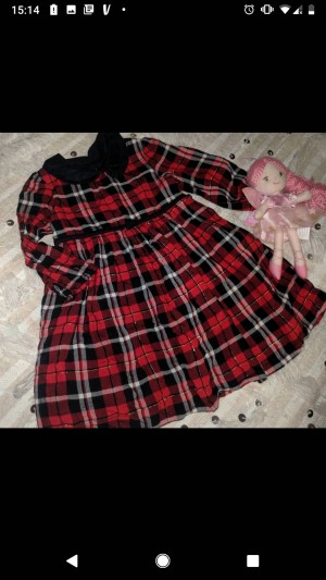 Lovely dress with gold thread 12-18m Fab condition