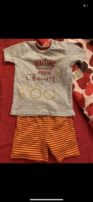 Harry Potter short t shirt top set 'waiting for my letter from hogwa