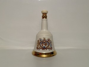 Vintage Large Porcelain Empty Decanter To Commemorate Their Marriage