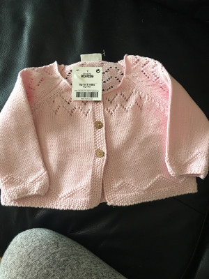 next baby cardigan up to 3months with tags