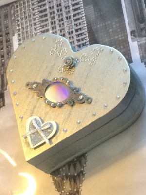 Bespoke handmade heart shaped box