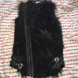 Real leather gilet