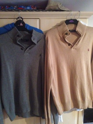 two Polo Ralph jumpers XL