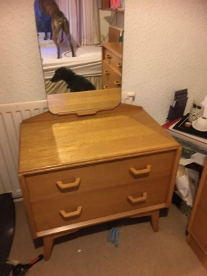 Vintage furniture 70s retro bedroom suite