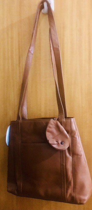 Real Leather Purse Satchel -free shipping
