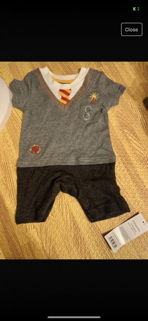 Harry Potter outfit wizard in training 0-3 jumpsuit romper