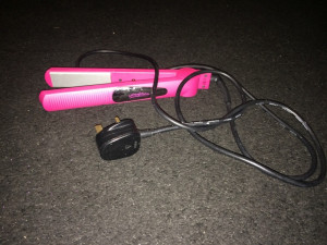 girls pink hair straighteners