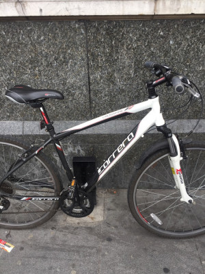 Carrera crossfire 1 hybrid men's bike