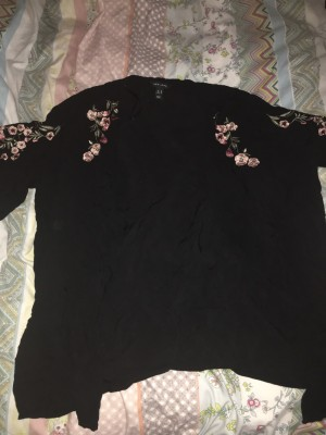 New Look Kimono With Cherry Blossom Detail Size 18