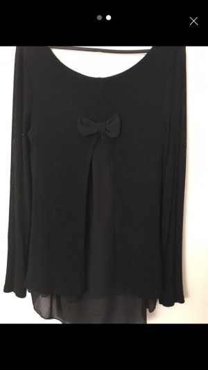 Plain jumper with pretty bow detail on the back - Size 10