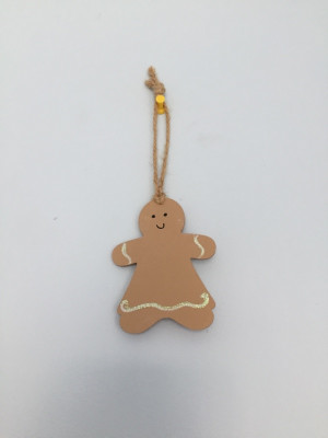 hand Decorated little gingerbread woman