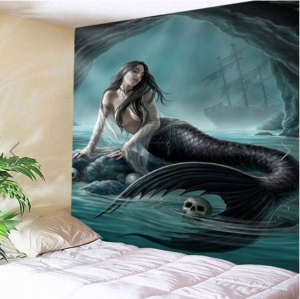 Fabric Wall Tapestry/Throw Mermaid 91 x 71 Inches Free P+P