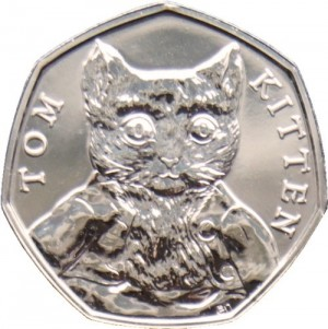 Tom kitten 50p coin