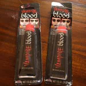 2 x Fake Halloween Red Blood Vampire Zombie Face Make Up Fancy Dress T