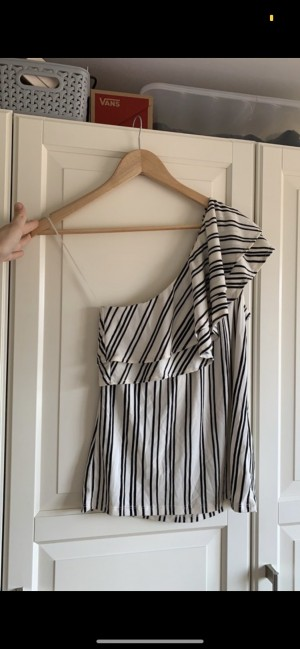 Size small striped one shoulder top