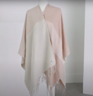 Soia & Kyo Woven Scarf Cardigan with Fringe in Quartz (Blush) New