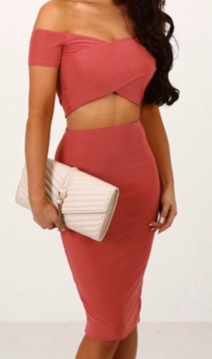 Pink boutique two piece