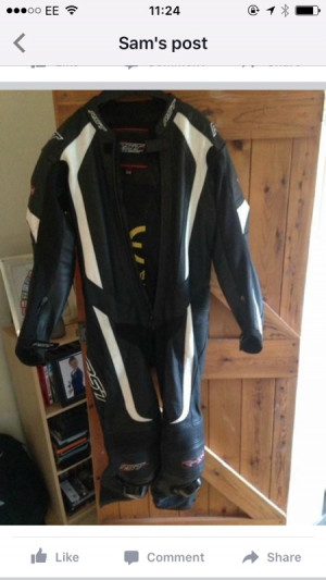 RST R-14 onepiece leathers