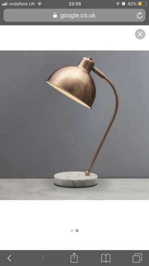 Copper marble lamp