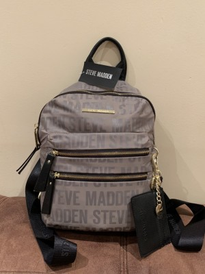 Steve Madden Prep Backpack; Smoke